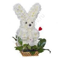 White Flower Bunny