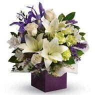 Box with lilies