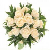 Classic bridal bouquet of white roses