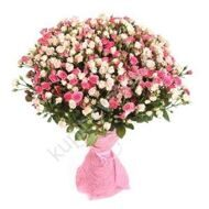 Bouquet of pink spray roses