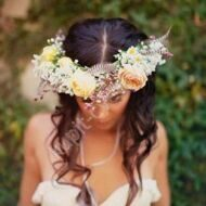 Wedding bride's wreath