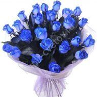 25 blue roses