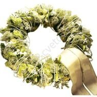 Funeral light wreath