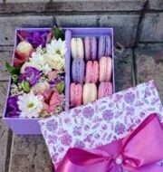 Lilac box with macarons