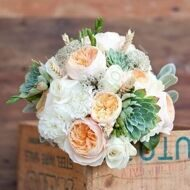 Tender wedding bouquet