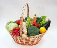"Basket Vegetable craze/ A basket ""Ovoschemaniya"""