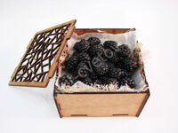 Casket with blackberries